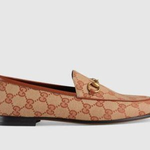 Gucci Jordaan GG canvas loafer 40 W (9-9.5)